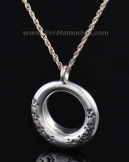 Silver Imprinted Devotion Round Jewelry Pendant