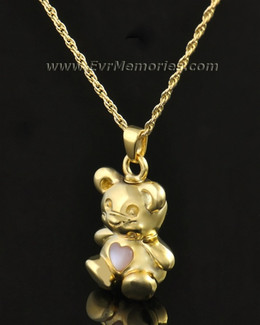 14k Gold Tickle Me Pink Bear Jewelry