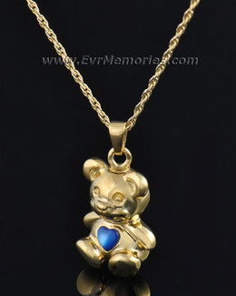 Gold Plated Baby Blue Bear Jewelry