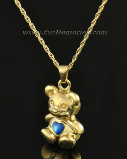 14k Gold Baby Blue Bear Jewelry