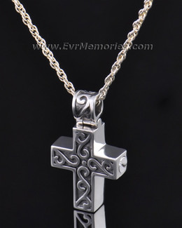 Silver Carved Cross Jewelry Pendant