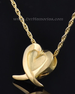 Gold Plated Heart of Hope Urn Jewelry