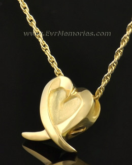 14k Gold Heart of Hope Urn Jewelry
