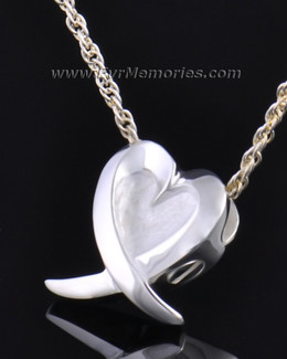 Silver Heart of Hope Jewelry Pendant