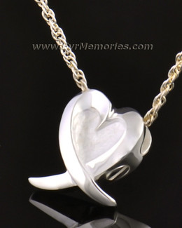 14k White Gold Heart of Hope Jewelry Pendant