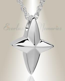 14k White Gold Ambitious Cross Jewelry Pendant