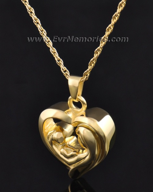 Gold plated together in my heart pendant that can be filled with a together in my heart memorial pendant aloadofball Image collections