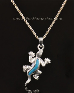 14k White Gold Gallant Gecko Jewelry Pendant
