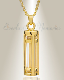 Fulfillment Gold Plated Cylinder Memorial Pendant
