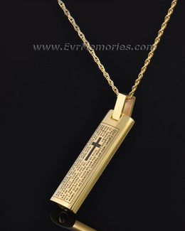 Cylinder of Worship Memorial Pendant