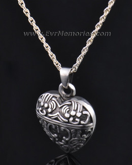 Silver Expressive Heart Jewelry Pendant