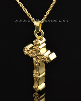 Gold Plated Delicate Cross Memorial Locket