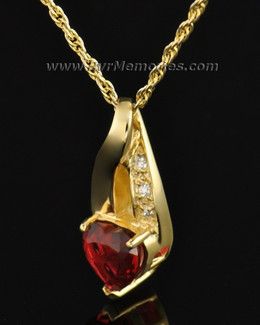 Gold Plated Flames of Love Memorial Locket