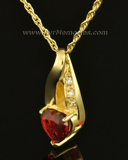 14k Gold Flames of Love Memorial Locket