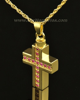 14k Gold Spiritual Cross Memorial Locket