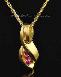Gold Plated Wrapped in Love Memorial Locket