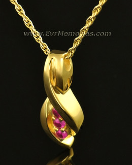 14k Gold Wrapped in Love Memorial Locket