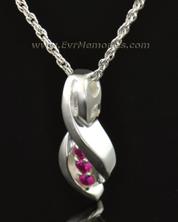 14k White Gold Wrapped in Love Memorial Locket