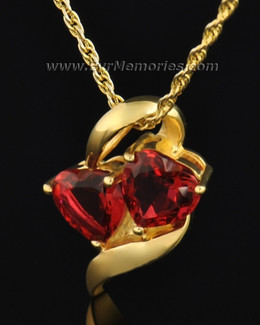Gold Plated Passionate Hearts Memorial Locket