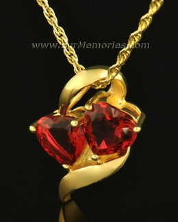 14k Gold Passionate Hearts Memorial Locket