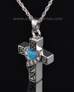 Sterling Silver Loving Cross Memorial Locket