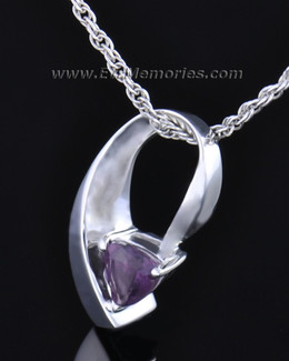 Sterling Silver Vibrant Violet Memorial Locket