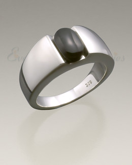 Sterling Silver Simply Sable Ring Jewelry Urn
