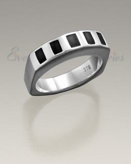 Sterling Silver Men's Token Ring Jewelry Urn