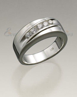 Sterling Silver Men's Wondrous Ring Jewelry Urn
