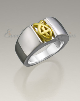 Sterling Silver Men's Worthy Ring Jewelry Urn