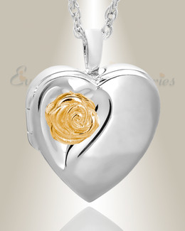 Sterling Silver Heart In Bloom Keepsake-Locket