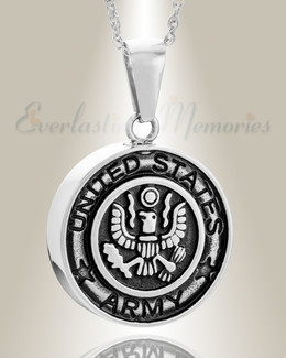 Stainless Steel Army Medal Pendant Keepsake