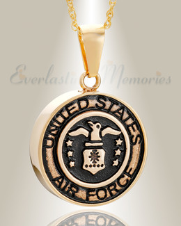 Gold Plated Air Force Medal Pendant Keepsake