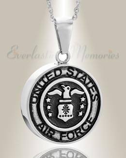 Stainless Steel Air Force Medal Pendant Keepsake