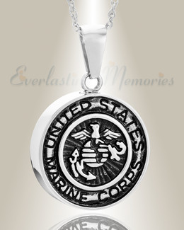 Stainless Steel Marines Medal Pendant Keepsake