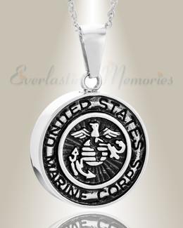 Stainless Steel Marines Medal Pendant Keepsake