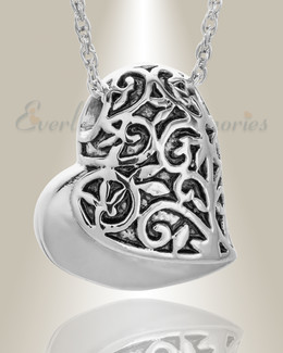Stainless Steel Tumbling Heart Pendant Keepsake