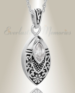 Stainless Steel Ornamental Teardrop Pendant Keepsake