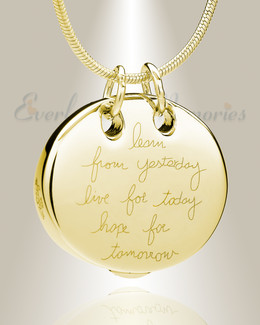 Gold Plated Wisdom Memorial Jewelry