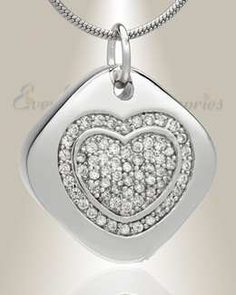Designer Heart Memorial Jewelry
