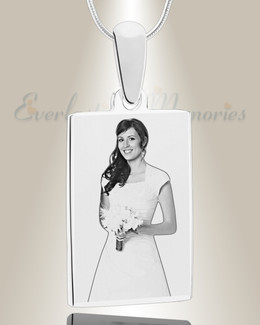 Rectangle Photo Engraved Stainless Keepsake
