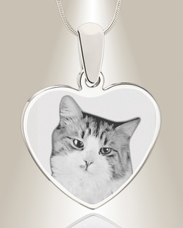 Heart Photo Engraved Stainless Pet Keepsake