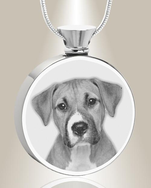 Everlasting memories provides stainless steel round photo engraved round stainless steel photo engraved pet ash pendant aloadofball Images