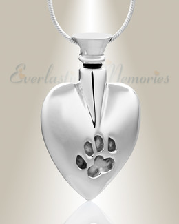 Silver In My Heart Cremation Jewelry