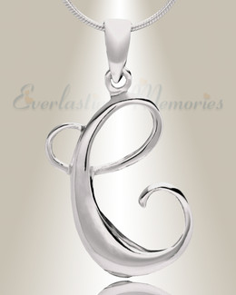 "Silver ""C"" Initial Cremation Jewelry"