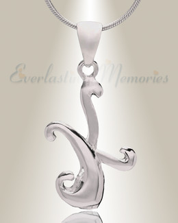 "Silver ""K"" Initial Cremation Jewelry"