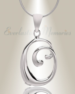 "Silver ""O"" Initial Cremation Jewelry"