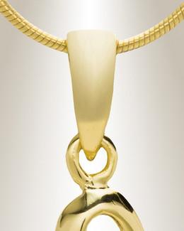 "Gold ""U"" Initial Cremation Jewelry"