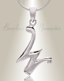 "Silver ""W"" Initial Cremation Jewelry"