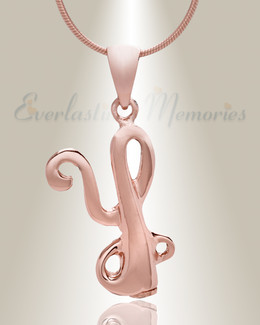 "Rose Gold ""Y"" Initial Cremation Jewelry"
